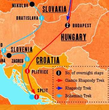 Find out the best way from Budapest to Split!