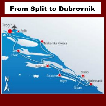 The shortest way from Split to Dubrovnik!