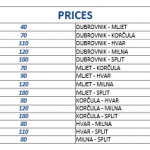 Kapetan Luka catamaran prices (in Kn)