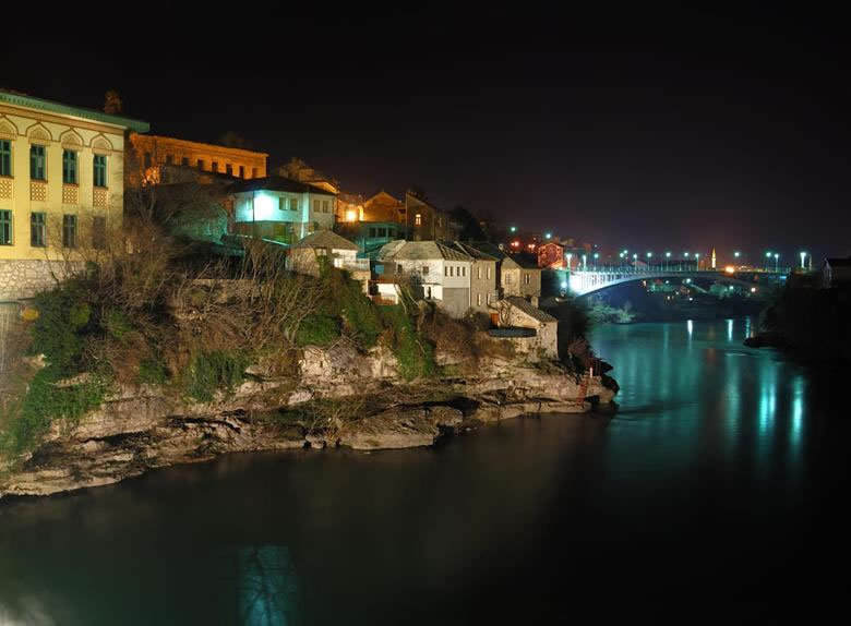 Mostar town at night