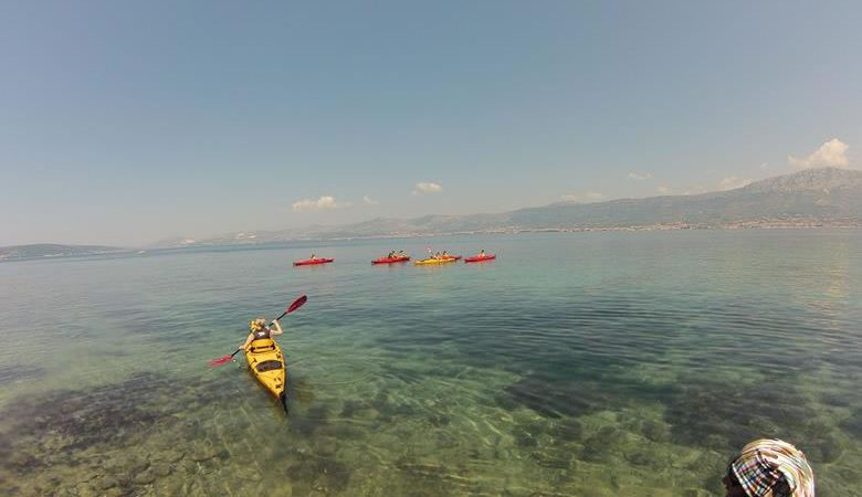 Paddling around Marjan hill