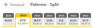 Vueling flights: Palermo - Split