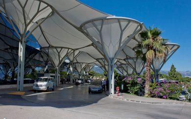 Split Airport Terminal Entrance