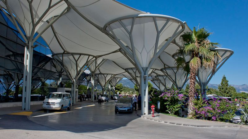 Split Airport Terminal Entrance