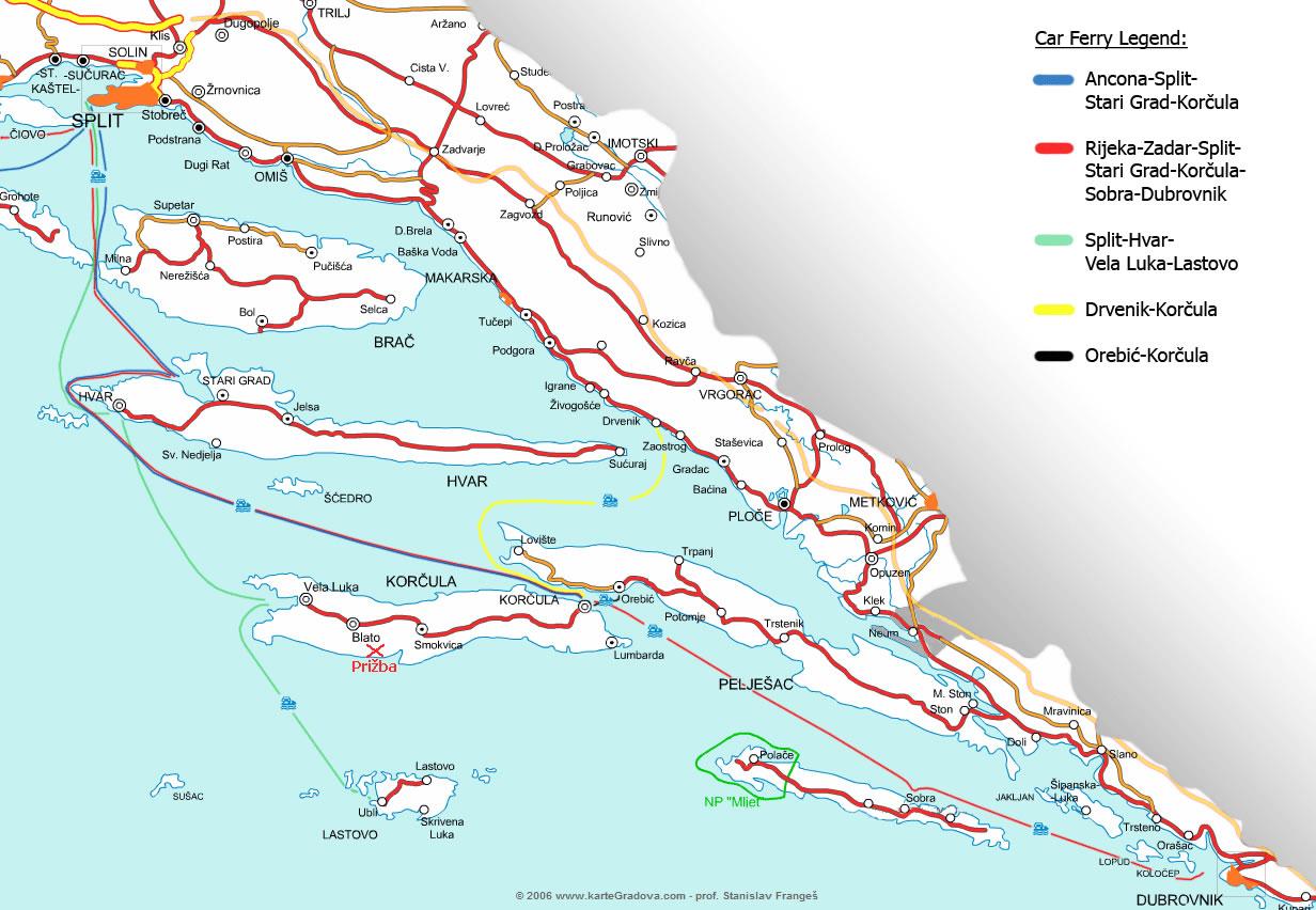 Croatia Ferry Network Split Croatia Travel Guide