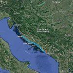 Zadar, Split and Dubrovnik map