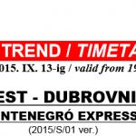 Budapest to Dubrovnik to Budva