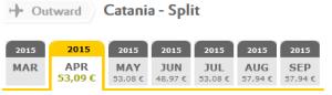 Vueling flights: Catania - Split