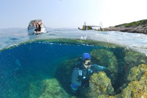 Diving on Brac