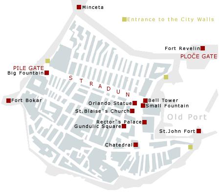 Dubrovnik city map