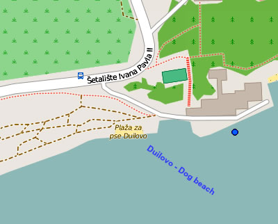 Duilovo beach map
