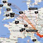 EasyJet Split Flight Map