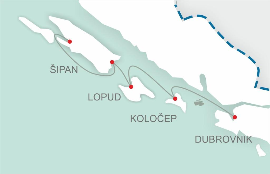 Elafiti ferry map