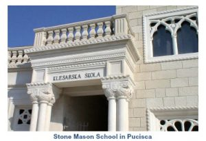 Stone mason school in Pucisca