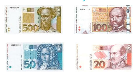 Croatian Currency Kuna Banknotes