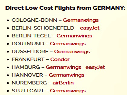 Lowcost flights from Germany to Split