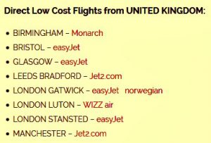Low cost flights from UK to Split