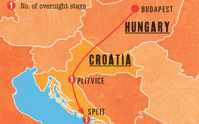 Mini Rhapsody Map - Budapest to Split