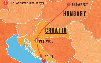 Mini Rhapsody Map - Budapest to Split