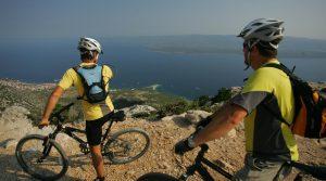 Mountain bike tour on Brac