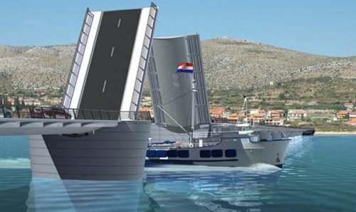 New bridge from Trogir to Ciovo