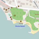 Ovcice beach map