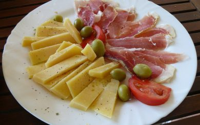 paski sir (Pag cheese) and prsut (prosciutto)