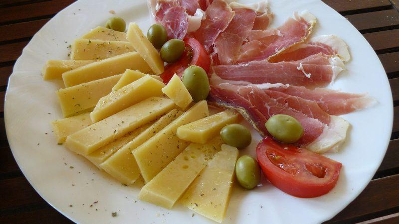 paski sir (Pag cheese) and prsut (prosciutto)
