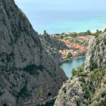 River Cetina and town Omis