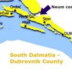 South Dalmatia map