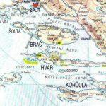 Islands near split: Brac, Solta, Hvar, and Vis