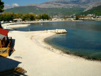 Stobrec usce (river mouth) beach