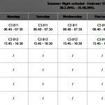 TradeAir summer flights schedule