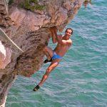 Sustipan Split deep water soloing location