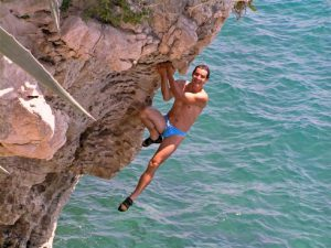 Sustipan Split deep water soloing location