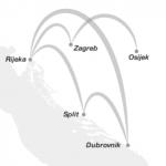 Trade Air flights map