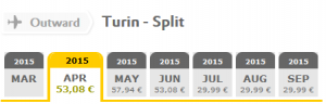Vueling flights: Turin - Split