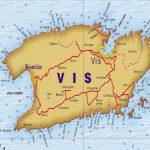 Vis island map