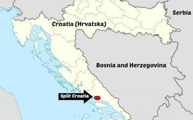 Split Croatia location on a map