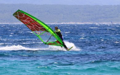 Windsurfing in Brac
