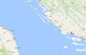 Ancona to Split Ferry Route
