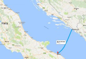 Bari to Dubrovnik Ferry Route