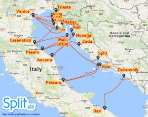 Italy to Croatia ferry routes