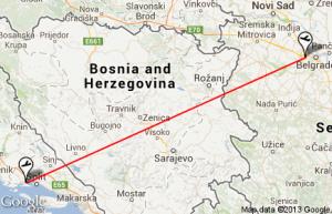 Belgrade to Split flight