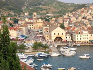 Hvar town and harbor