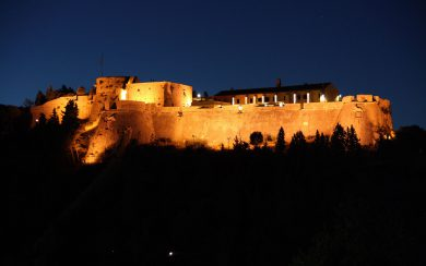 Spanish fortress by night (Hvar town)