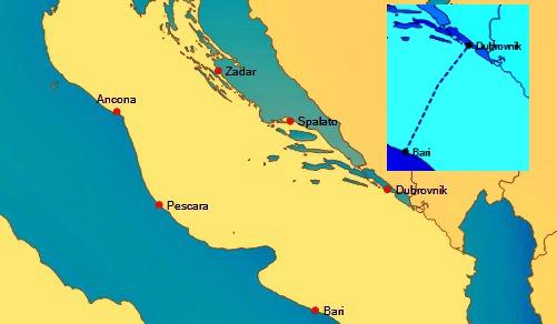 Dubrovnik sea map