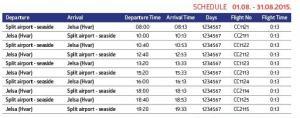 EC Air - Split to Jelsa (Hvar): August 1 - August 31