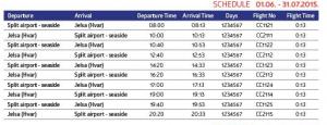 EC Air - Split to Jelsa (Hvar): June 1 - July 31