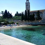 Franciscan monastery beach in Hvar